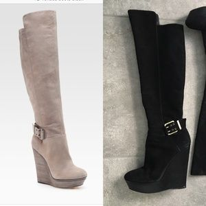 Brian Atwood | Venada Black Suede Knee High Boots